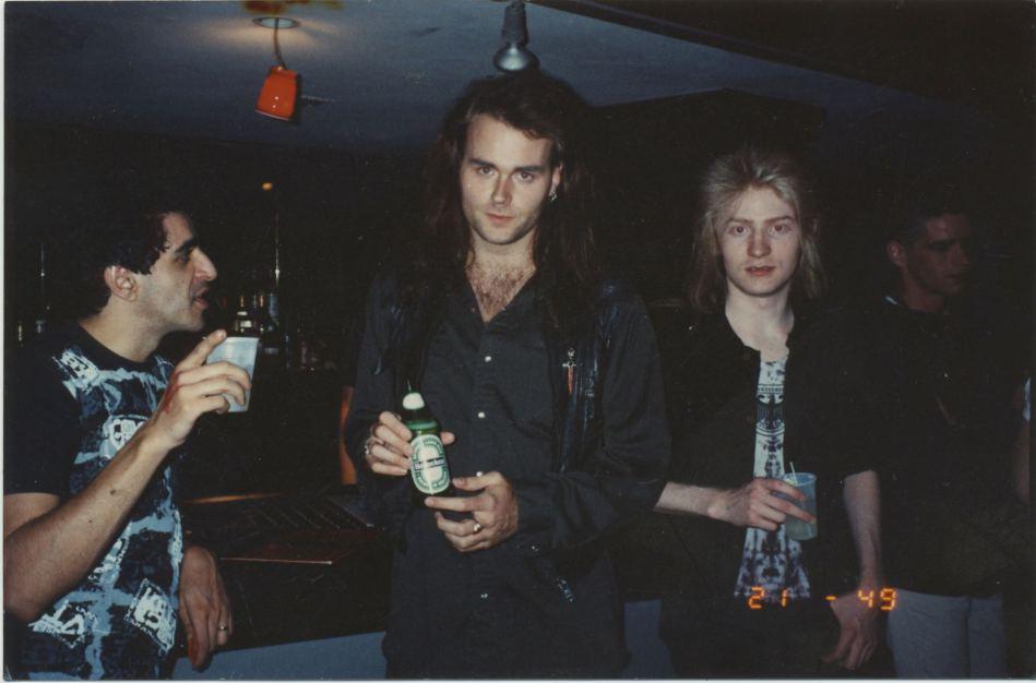 Dwayne Goettel вместе с Jaz Coleman и  cEvin Key, Miami 1988