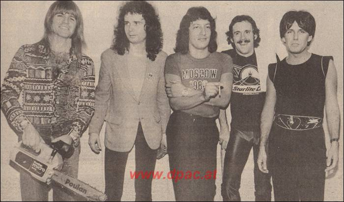 Новый Deep Purple. Слева-направо: Dick Jurgens (drums) - Tony Flynn (guitars) - Tom De Rivera (bass) - Geoff Emery (keyboards) - Rod Evans (vocals)